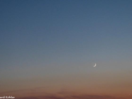 Die Mondsichel bei der Venus