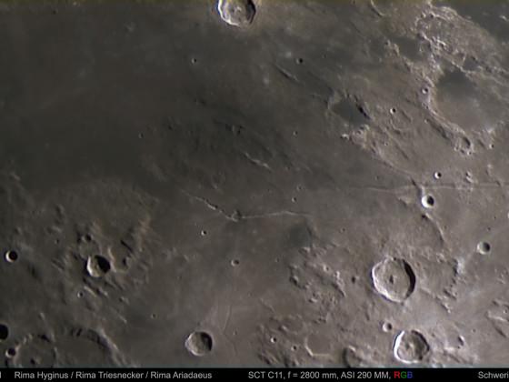 Rimae Hyginus / Triesnecker / Ariadaeus am 18.06.2021 RGB