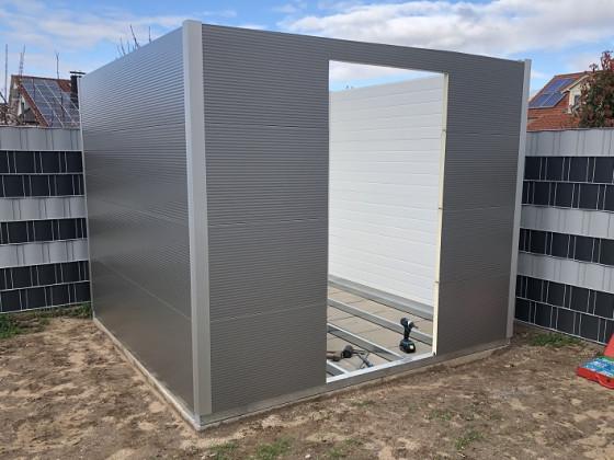 Rolldachhütte Aufbau Außenwände
