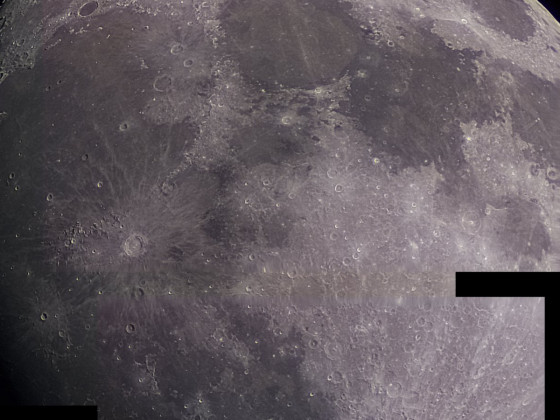 Mond vom 25.04.2021 mit der Raspberry Pi HQ Kamera