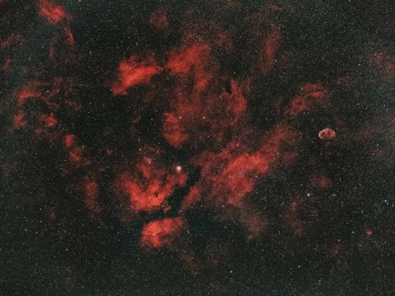 Region Sadr mit NGC6888(Mondsichelnebel)