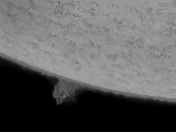 Sonnenprotuberanzen in H-Alpha