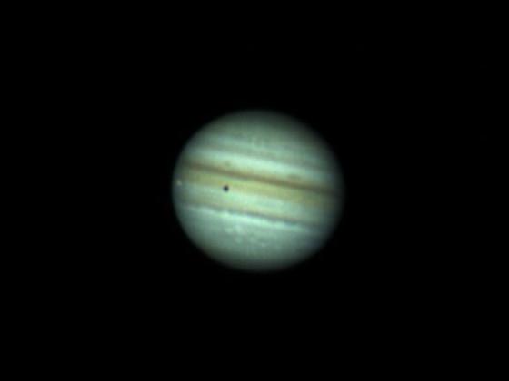 Jupiter mit Io am 21.7.2021 200/1000 Newton, 2x Barlow ASI 120 MC