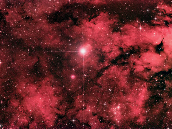 NGC 1318 - Gamma-Cygni-Nebel (Schmetterlingsnebel) aus der Stadt