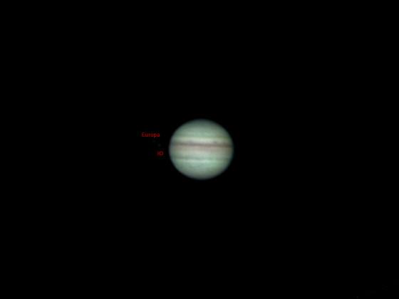Jupiter vom 07.08.2021mit der Raspi HQ-Kamera
