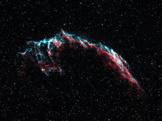 NGC6995 im Cirrusnebel / bicolor