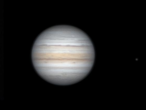 """Jupiter und Io mit 8"""" Newton"""