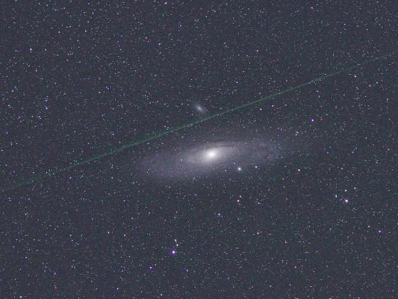 Andromedagalaxie mit Perseid