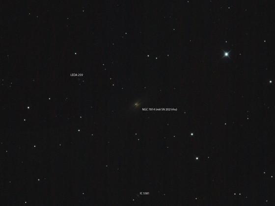 SN 2021rhu in NGC 7814 im Pegasus
