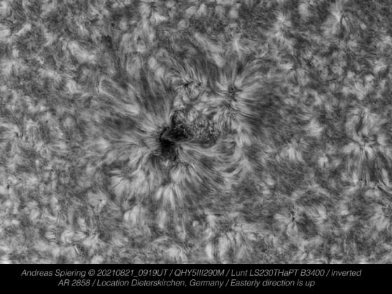 Sonne vom 21.August 2021