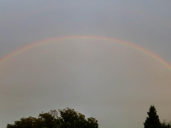 Regenbogen vom 22. August 2021