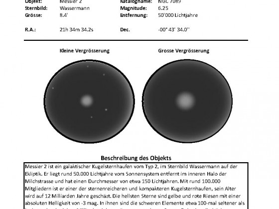 M2 Beobachtung
