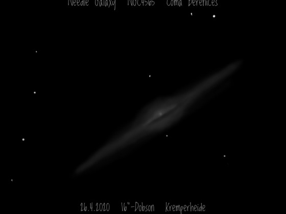 Nadelgalaxie NGC 4565 in Coma Berenices