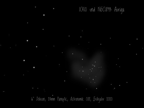IC410 und NGC1893 in Auriga