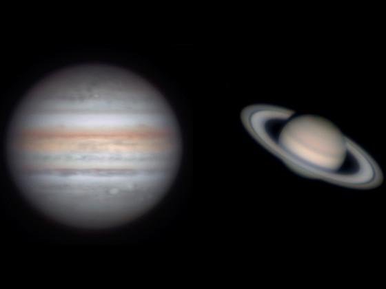 Jupiter und Saturn am 14.9.2021