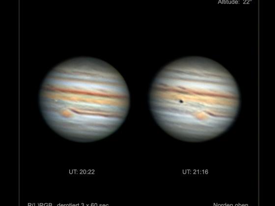 Jupiter und Io am 13. September 2021
