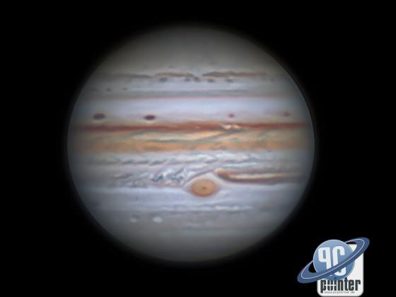 Jupiter - 1,5 Stunden derotiert
