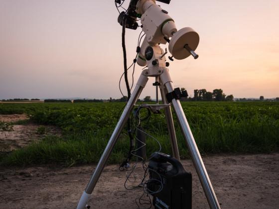 HEQ5 PRO mit Kamera, Teleobjektiv und Autoguiding