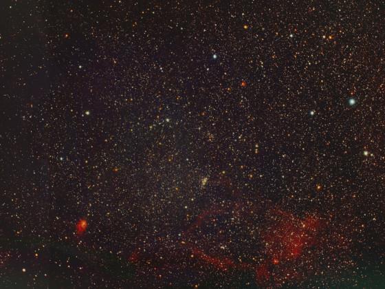Region um NGC 7510 mit NGC 7538 und Californietto Nebel mit dem APO 80 bei Vollmond
