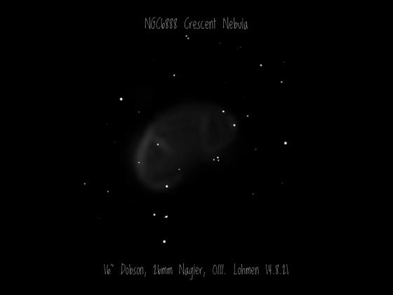 Crescent Nebula NGC 6888 Im Schwan