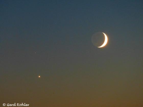 """Mond, Venus und der Stern δ Sco """"Dschubba"""""""
