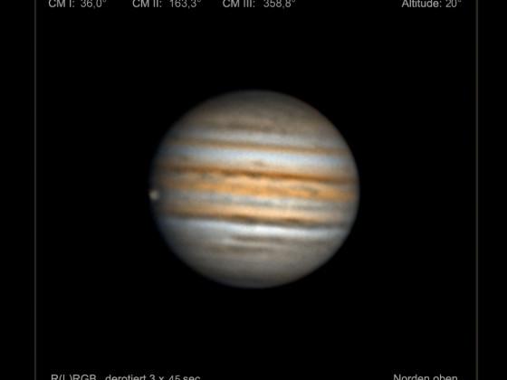 Jupiter & Ganymed am 11. Oktober 2021