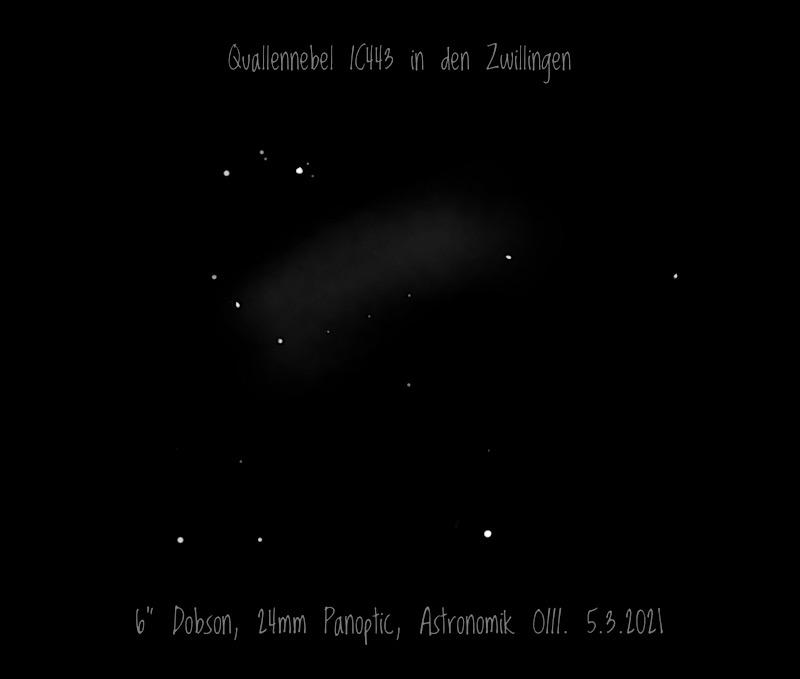 Quallennebel IC443 in den Zwillingen