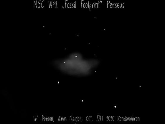 Der Fossil Footprint NGC 1491 in Perseus