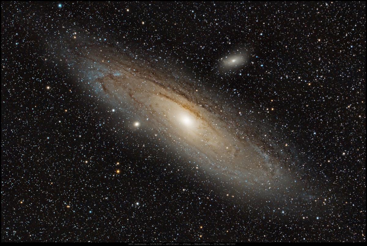 M31 Andromeda kurz belichtet