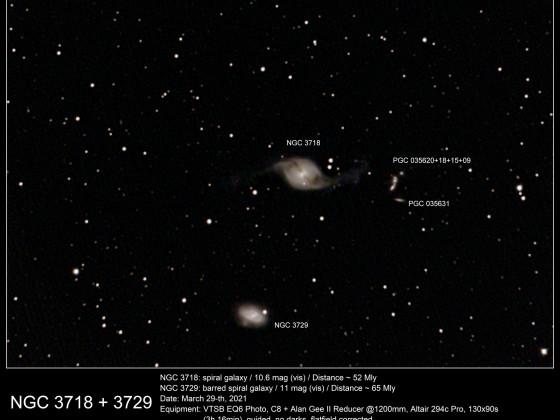 NGC 3718 + 3729