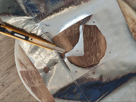 Bearbeitung mit dem Cuttermesser
