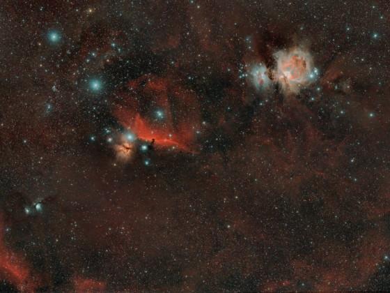 M42, IC 434, B33, M 78