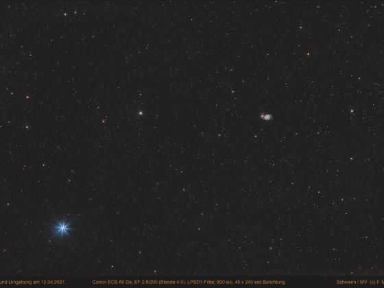 """Whirlpool - Galaxie M 51 """"wide field"""" 12.04.2021"""