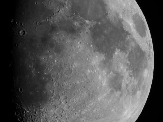 Mond mit Mondgebirgen und Copernicus