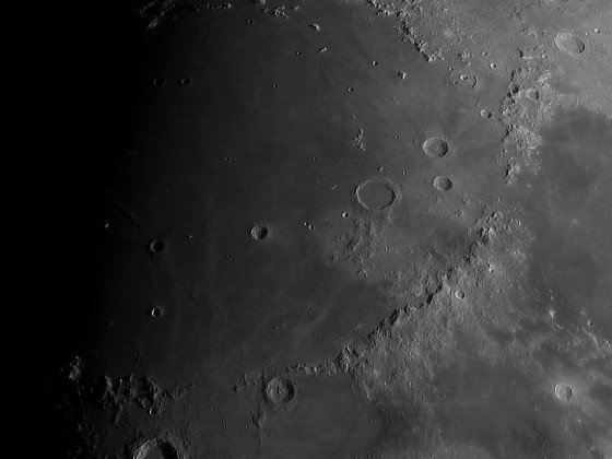 Mondgebirge mit Plato und Copernicus