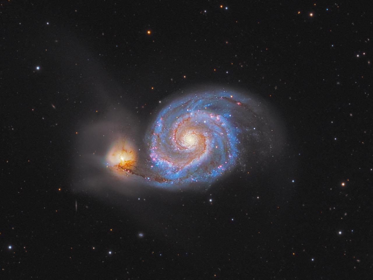 M51  LRGB + H-alpha