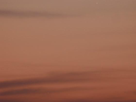 Venus und Merkur am Abendhimmel.