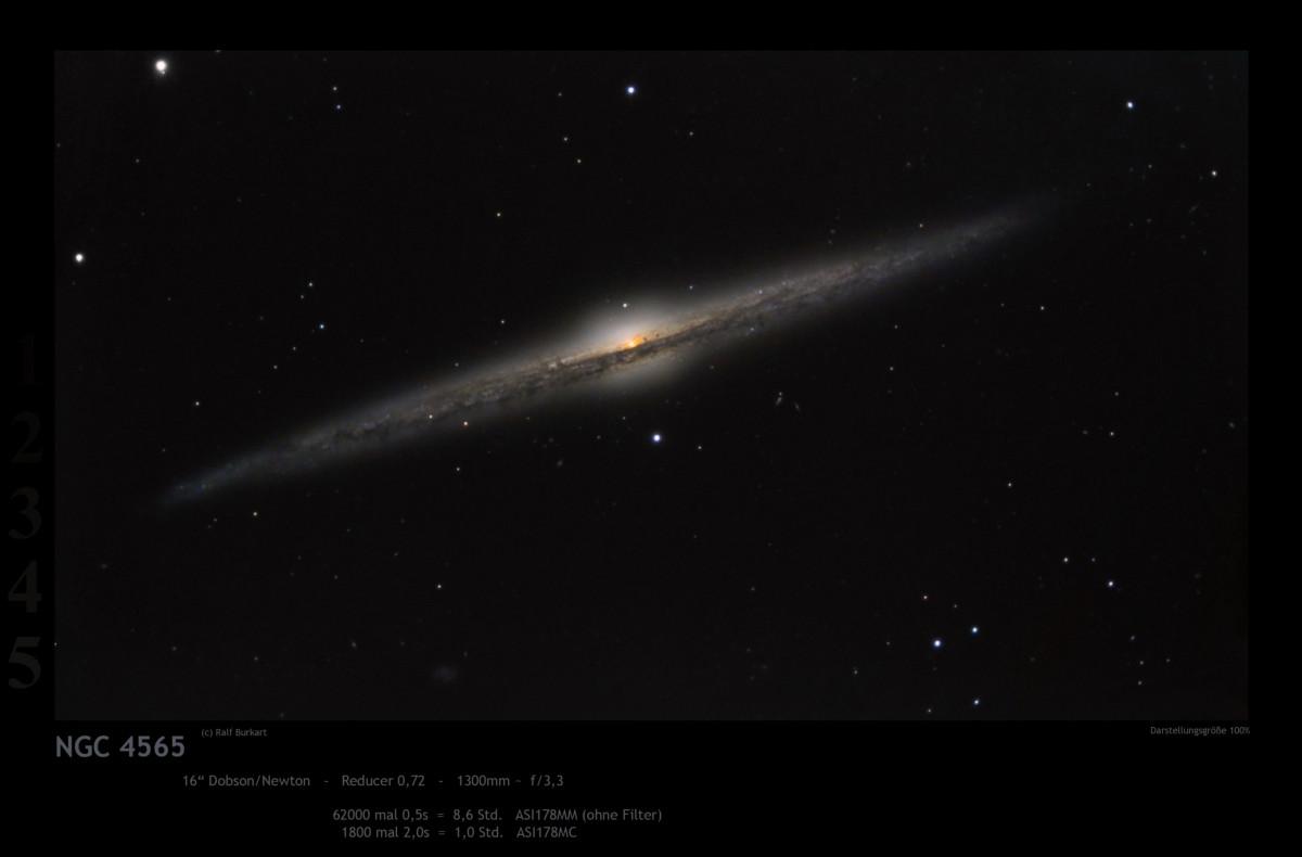 NGC 4565, die Nadelgalaxie, in 0,5 Sek. Bildern