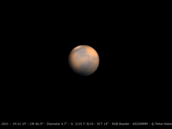 Mars am 27. April 2021