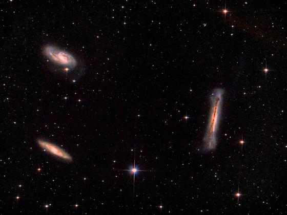 Leo-Trio (M 65; M 66; NGC 3628)