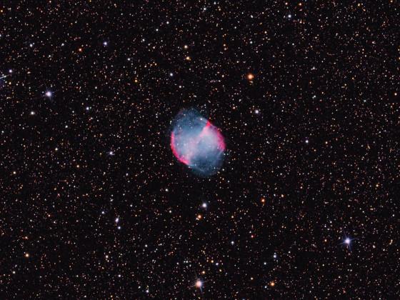 M 27 - Hantelnebel  -  ein Composite mit versch. Teleskopen und Kameras