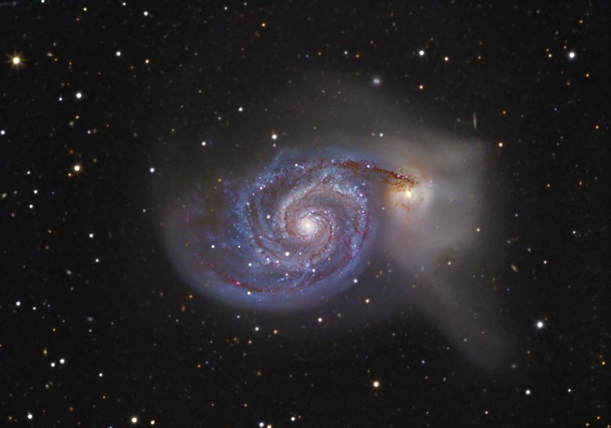 Messier 51 Mit Dobson teleskop