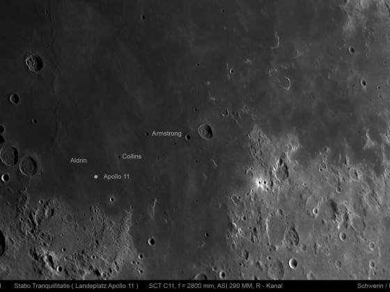 Statio Tranquillitatis (Landeplatz von Apollo 11), 18.05.2021