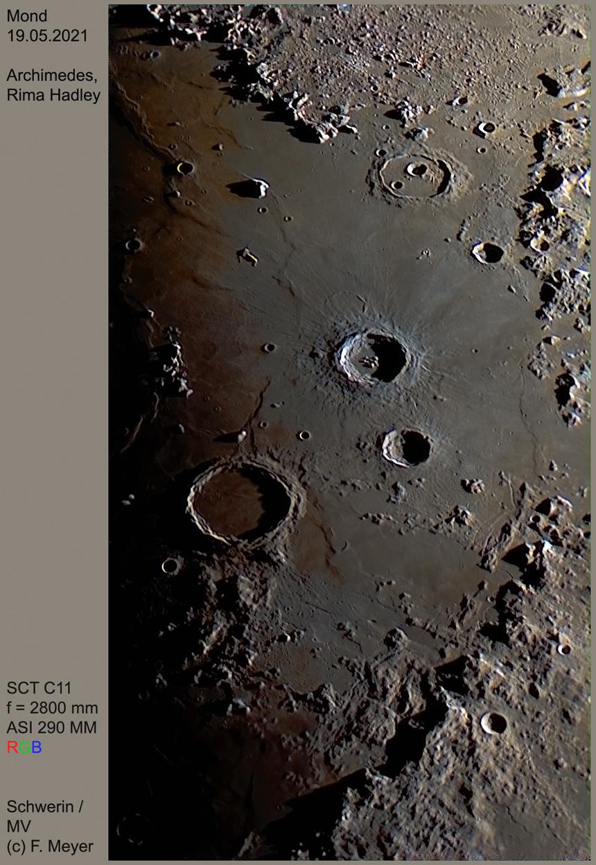 Archimedes, Rima Hadley am 19.05.2021 RGB