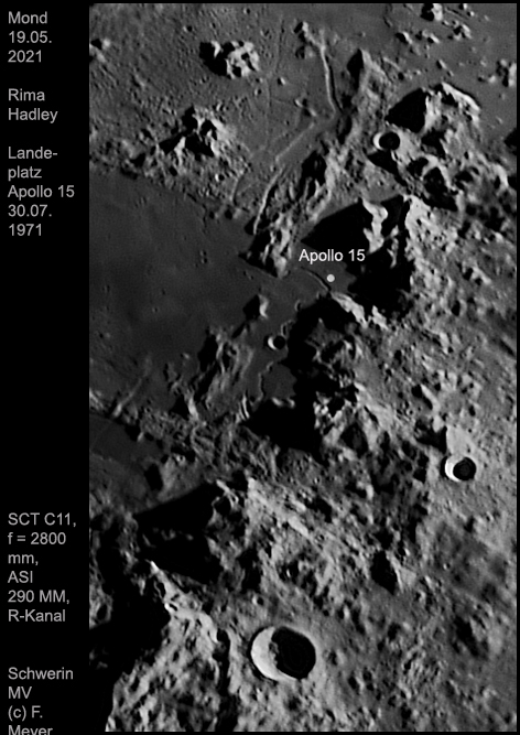 Rima Hadley, Ausschnitt (Landeplatz Apollo 15, 1971), 19.05.2021