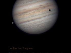 Jupiter im IR mit Ganymed