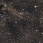 Dust & Galaxies in Dragon annotated