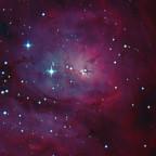 Stundenglas-Nebel in M8  218x20 sec