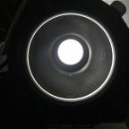 Teleskop ohne Adaption, direkter Blick durch den OAZ