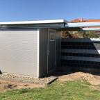 Rolldachhütte Dach offen